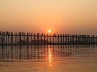 Sunset at U-Bein Bridge, Mandalay