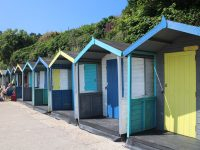 Beach huts at Swanpool