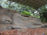 Sri Lanka's cultural triangle is full of fascinating sights like this huge Buddha in Polonnaruwa