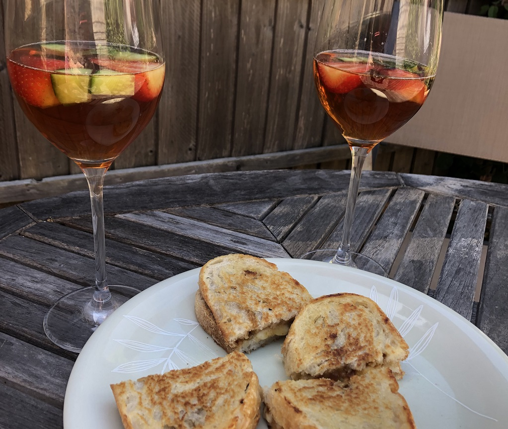 Cheese toasties, Pimms