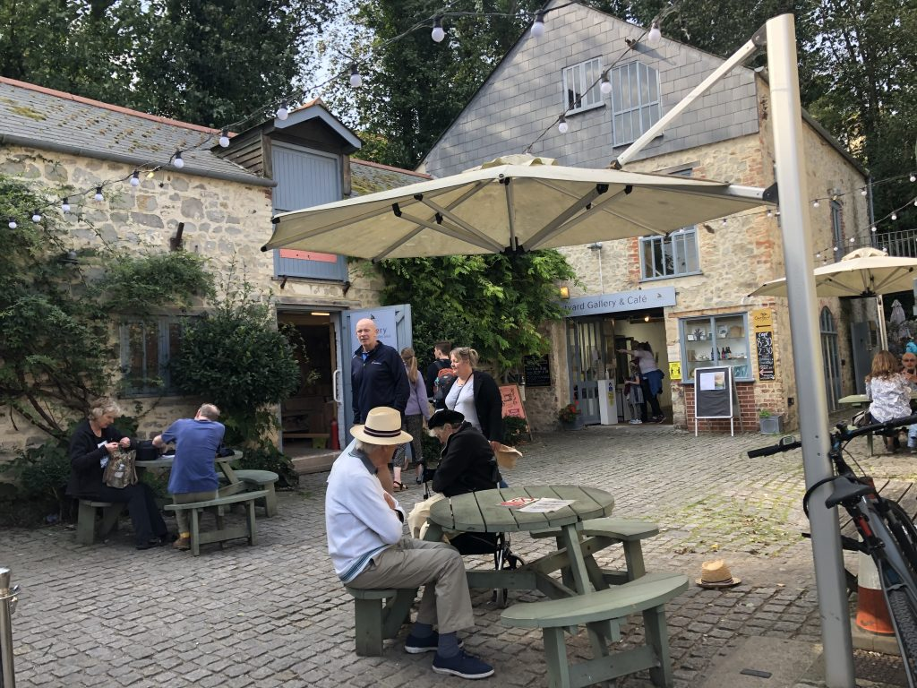 Town Mill courtyard cafe, Lyme Regis